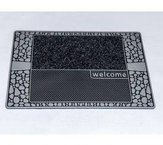 שטיח סף לכניסה סטון אבנים אפור שחור