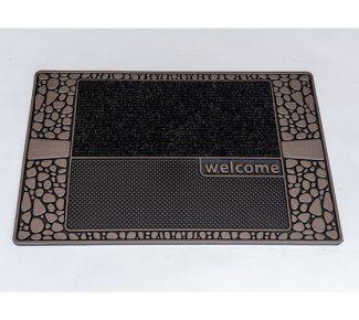שטיח סף לכניסה סטון אבנים חום שחור
