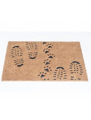 שטיח סף לכניסה 2 גבהים - טביעות נעליים