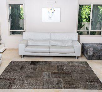 שטיחי סופר פאטצ בעבודת יד 022 חום ירקרק
