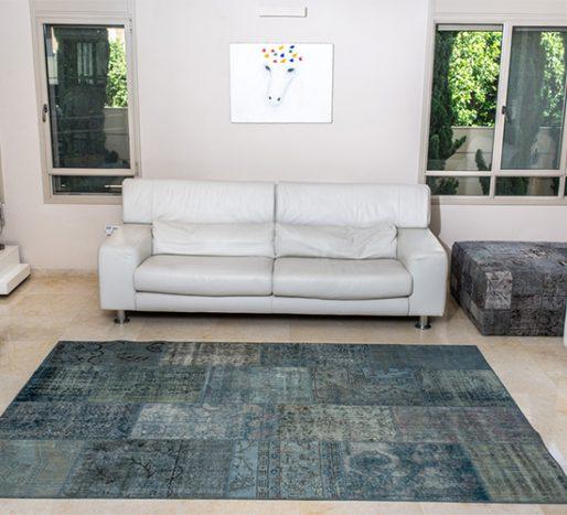 שטיחי סופר פאטצ בעבודת יד 030 טורקיז