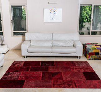 שטיחי סופר פאטצ בעבודת יד 035 אדום