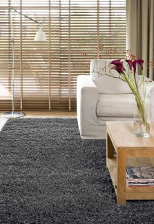 שטיח שאגי קוויבק אפור כהה