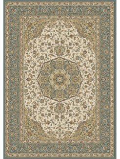 שטיח קירמן מדליון בז/תכלת 55131/630
