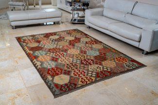שטיח קילים צבעוני בעבודת יד (1017)