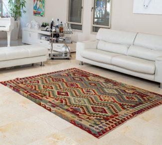 שטיח קילים צבעוני בעבודת יד (1033)