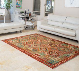 שטיח קילים צבעוני בעבודת יד (1305)