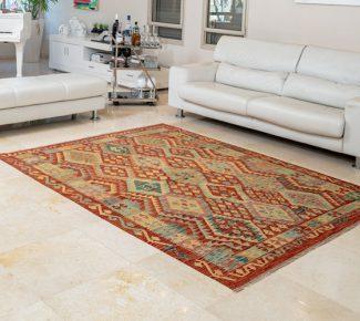 שטיח קילים צבעוני בעבודת יד (1306)