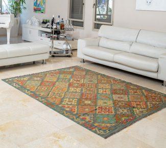 שטיח קילים צבעוני בעבודת יד (1308)