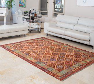 שטיח קילים צבעוני בעבודת יד (1317)