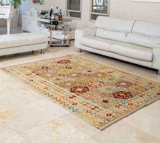 שטיח קילים צבעוני בעבודת יד (1318)