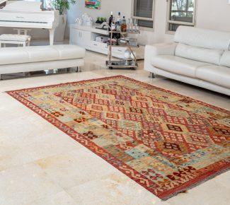 שטיח קילים צבעוני בעבודת יד (1324)