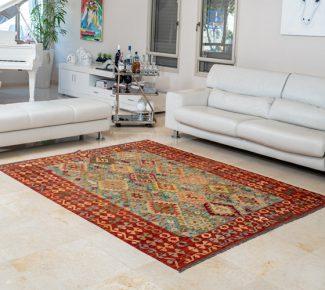 שטיח קילים צבעוני בעבודת יד (1332)