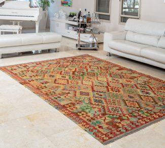 שטיח קילים צבעוני בעבודת יד (1344)