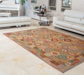 שטיח קילים צבעוני בעבודת יד (1345)