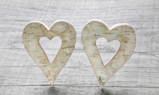 שטיחון מודפס לכל מטרה -שני לבבות