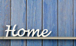 שטיחון מודפס לכל מטרה - HOME כחול