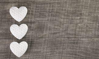 שטיחון מודפס לכל מטרה - שלושה לבבות