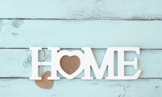 שטיחון מודפס לכל מטרה -HOME לב חום
