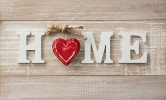 שטיחון מודפס לכל מטרה - HOME לב אדום