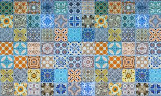 שטיחון מודפס לכל מטרה - אריחים צבעוני