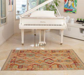 שטיח קילים צבעוני בעבודת יד (589)