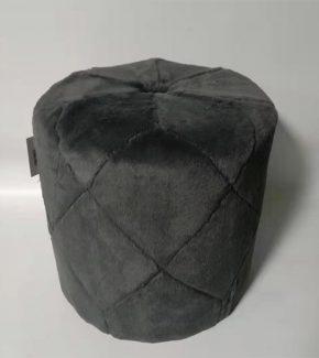 הדום פוליאסטר קטיפה - אפור כהה