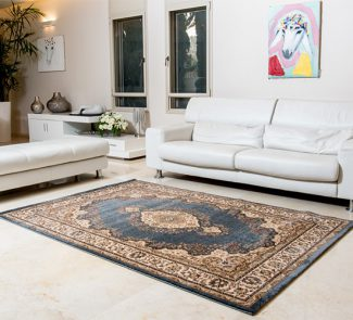שטיח קירמן מדליון כחול 55002/032
