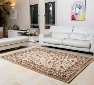 שטיח קירמן מסגרת בז' רקע בז' 55001-652