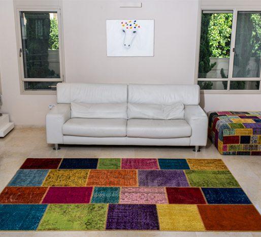 שטיחי סופר פאטצ בעבודת יד 990 צבעוני