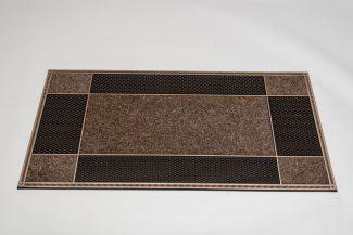 שטיח סף סופר מחצלת לכניסה לבניין - חום