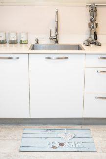 שטיחון מודפס לכל מטרה -HOME לב רקע תכלת