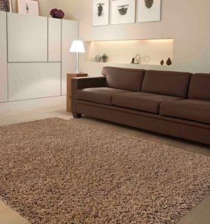 שטיח שאגי קוויבק חום בהיר