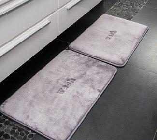 שטיח פליז לאמבטיה wash אפור