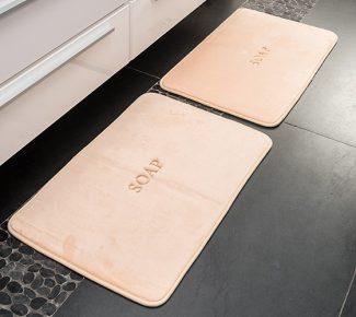 שטיח פליז לאמבטיה soap אפרסק