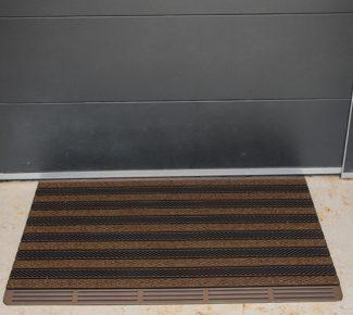 שטיח סף לכניסה מולטי - חום