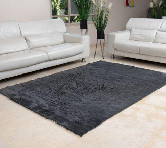 שטיח פוליאסטר שאגי אפור כהה