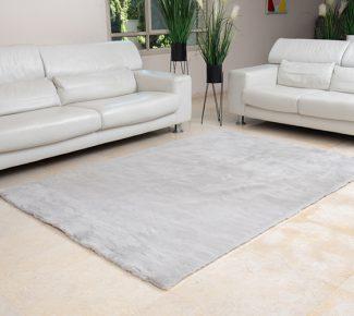 שטיח פוליאסטר שאגי אפור בהיר
