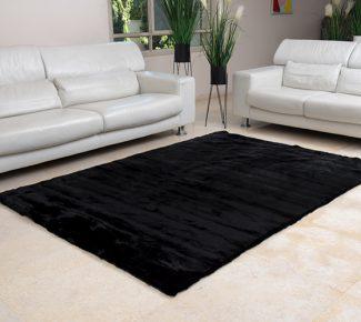 שטיח פוליאסטר שאגי שחור