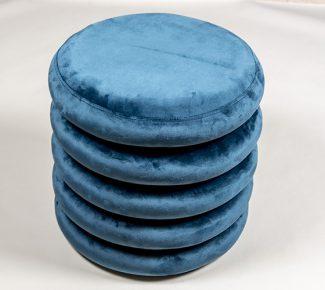 הדום קטיפה 5 שכבות כחול