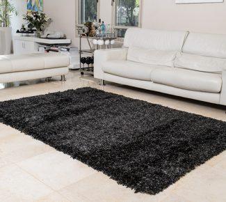 שטיח פלופי שאגי שחור
