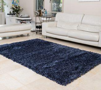 שטיח פלופי שאגי כחול