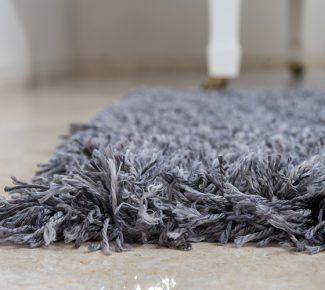 שטיח פלופי שאגי אפור