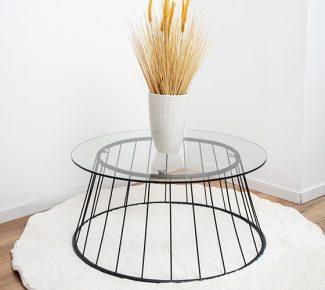 שולחן לסלון F10079 זכוכית שקופה