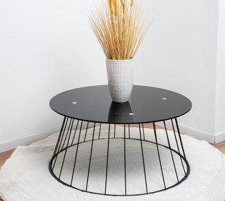 שולחן לסלון F10079 זכוכית שחורה