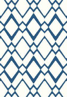 שטיח הרמוני שאגי לבן מעוינים כחול