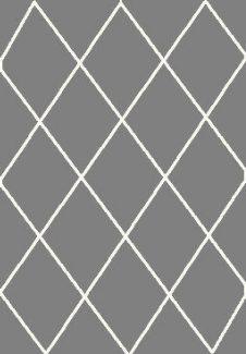 שטיח הרמוני שאגי אפור מעוינים לבן