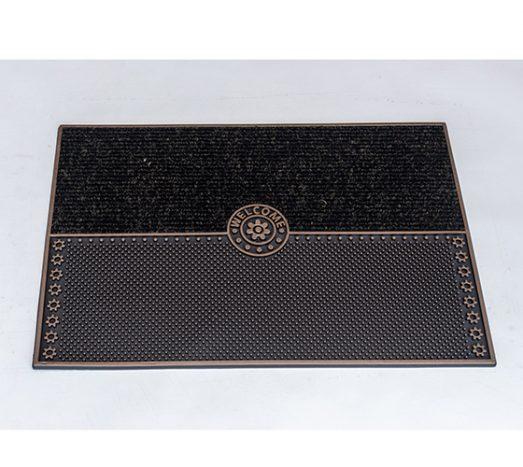 שטיח סף לכניסה סטון Welcome שחור