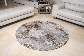 שטיח פלורנס עגול- 6023A זהב
