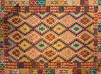 שטיח קילים צבעוני בעבודת יד